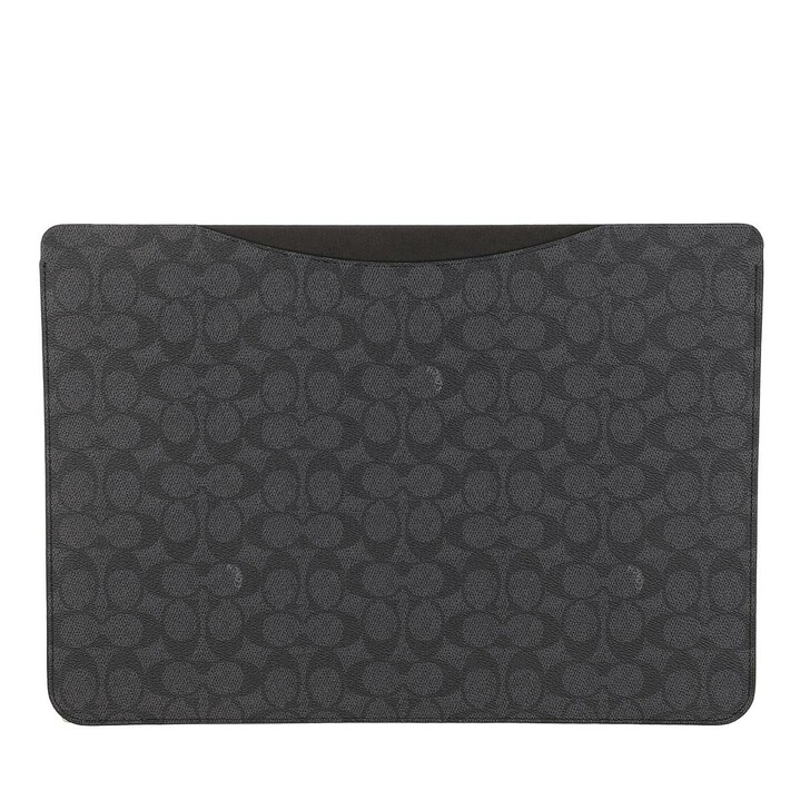 Handtasche, Coach, 16 Inch Laptop Sleeve In Signature Charcoal