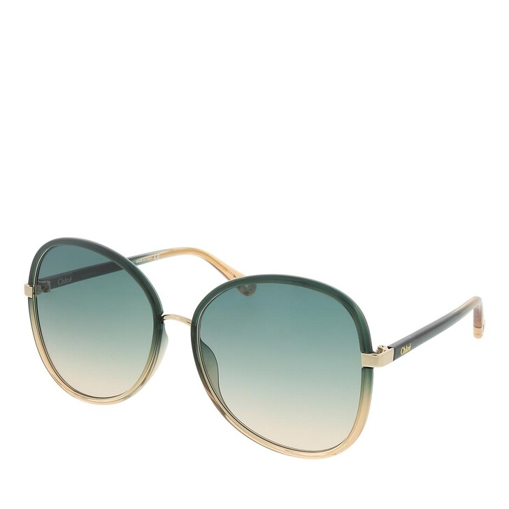sunglasses, Chloé, CH0030S-006 60 Sunglass Woman Injection Green-Blue-Green