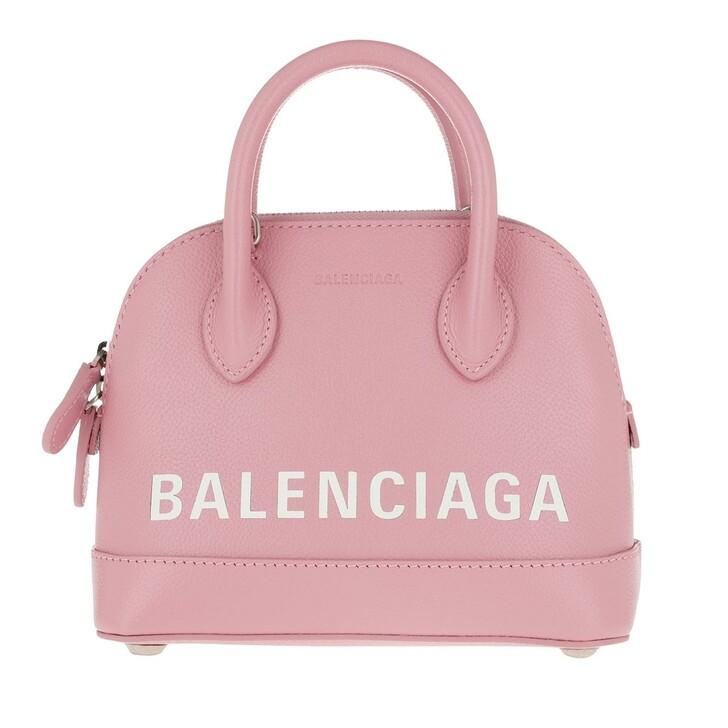 bags, Balenciaga, XXS Ville Crossbody Bag Dragee White