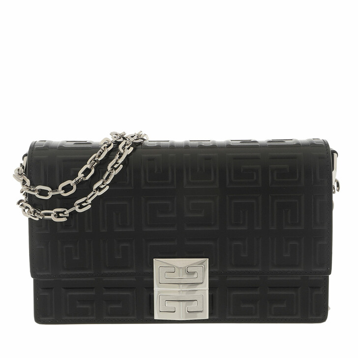 bags, Givenchy, Small 4G Chain Crossbody Bag Leather Black