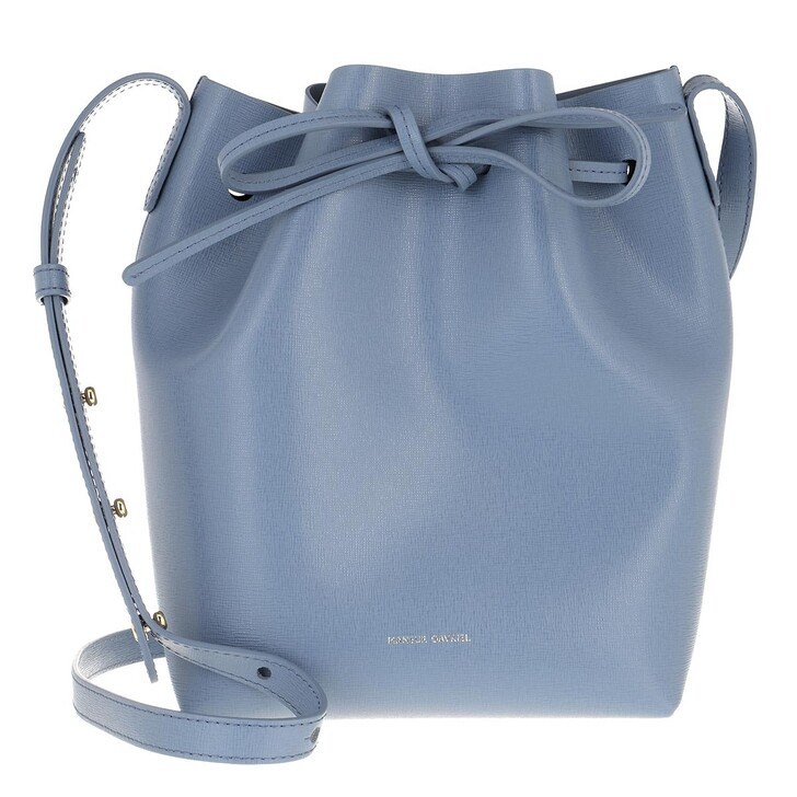 Handtasche, Mansur Gavriel, Mini Bucket Bag Leather Pioggia