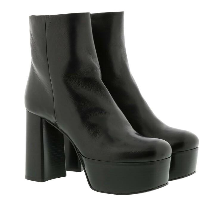 shoes, Prada, High Boot Vitello Black