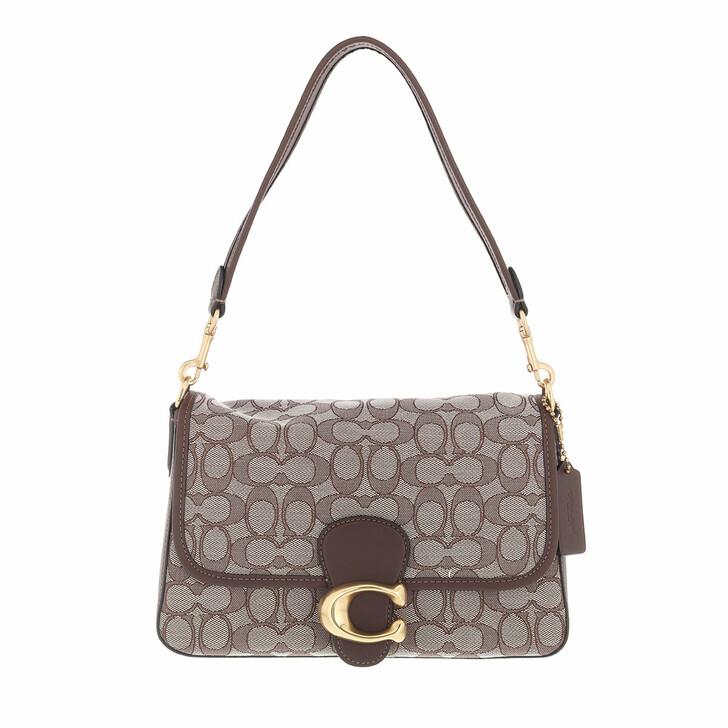bags, Coach, Signature Jacquard Soft Tabby Shoulder Bag B4 Oak Maple