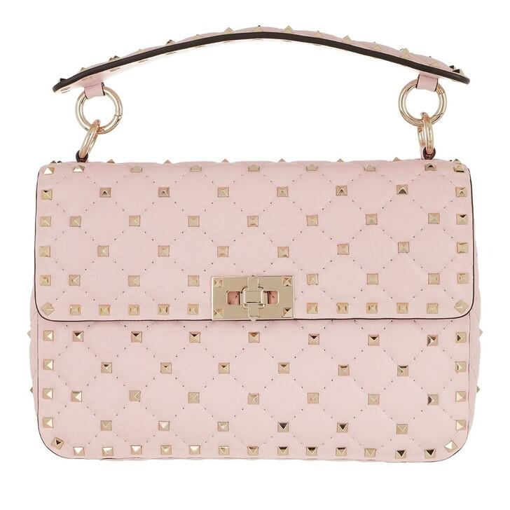Handtasche, Valentino Garavani, Medium Rockstud Spike Crossbody Bag Leather Rose Quartz