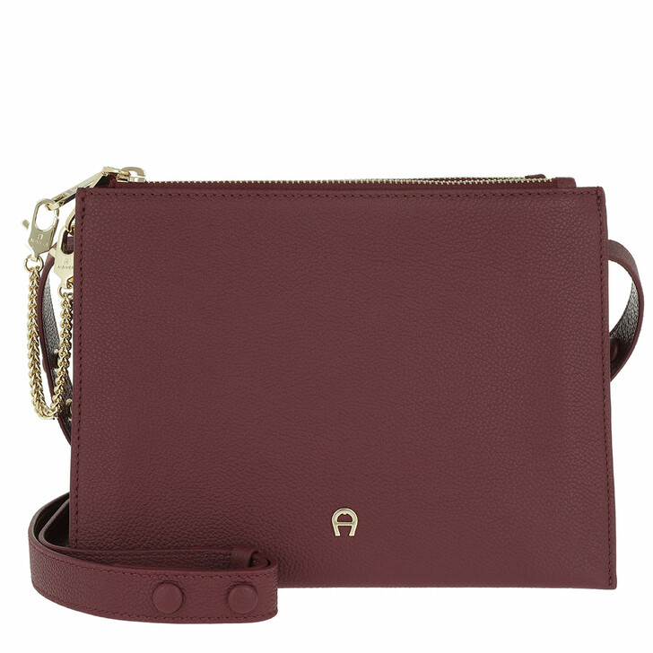 Handtasche, AIGNER, Lana S Crossbody Bag Burgundy