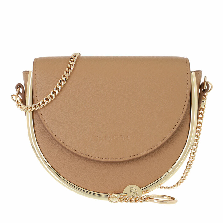 bags, See By Chloé, Mara Evening Shoulder Bag Leather Coconut Brown