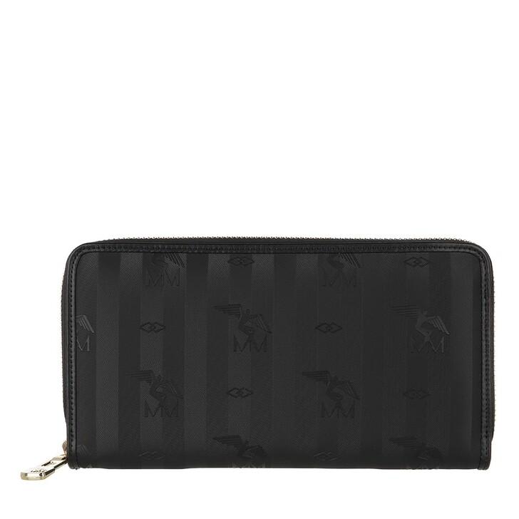 Geldbörse, Maison Mollerus, Vinerus Zip Wallet Black