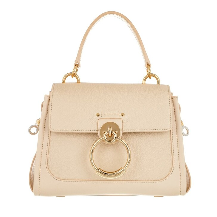 Handtasche, Chloé, Tess Day Mini Crossbody Bag Leather Sweet Beige
