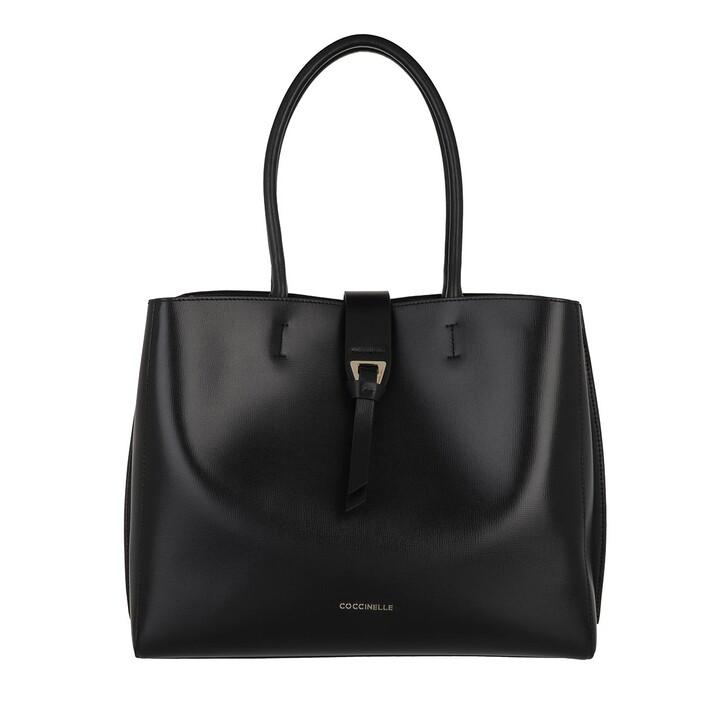 Handtasche, Coccinelle, Alba Textured Shopper Noir
