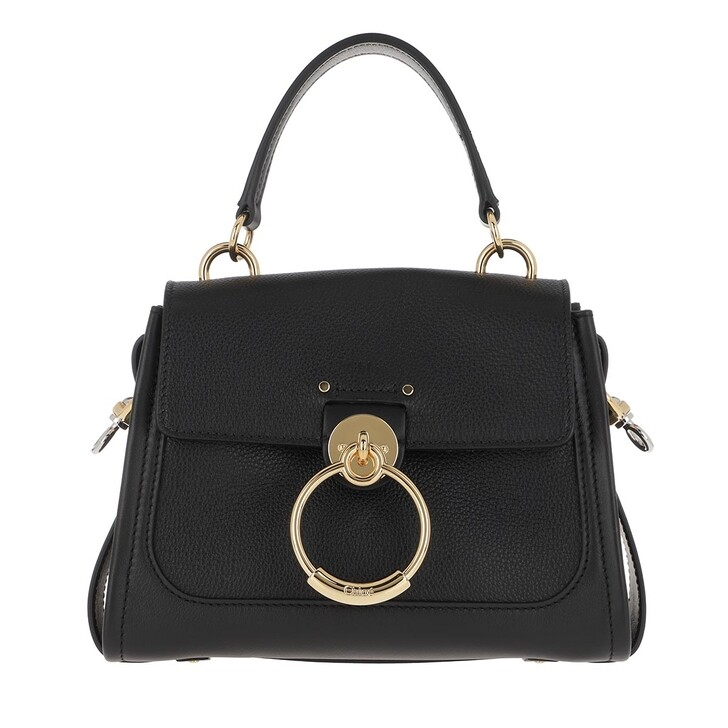 Handtasche, Chloé, Tess Day Mini Crossbody Bag Leather Black
