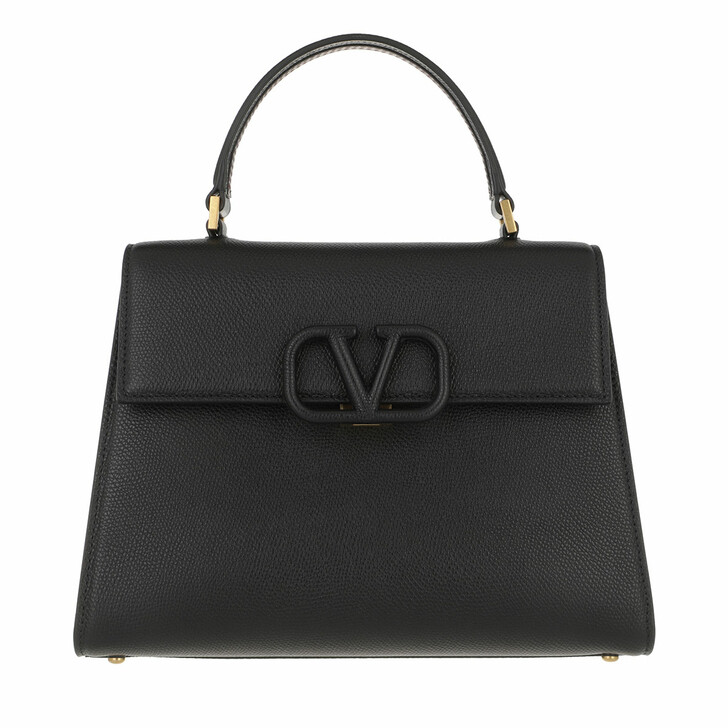 bags, Valentino Garavani, VSLING Handbag Leather Black