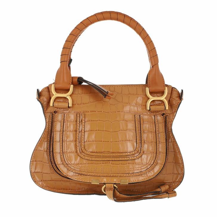 Handtasche, Chloé, Marcie Shoulder Bag Calfskin Camel