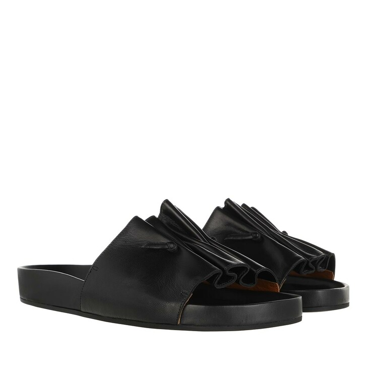 Schuh, L´Autre Chose, Flat Sandals Lamb Leather Black