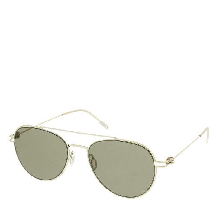 Sonnenbrille, Montblanc, MB0001S-007 56 Unisex Metal Gold-Gold-Brown