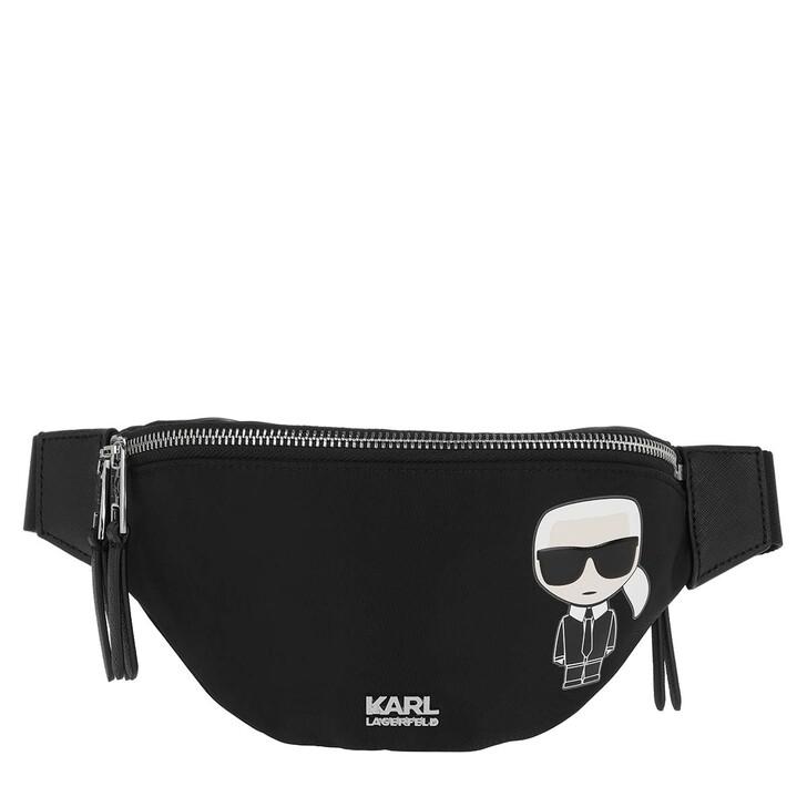 Handtasche, Karl Lagerfeld, K/Ikonik Nylon Bumbag  Black