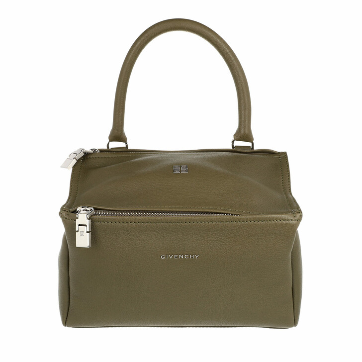 bags, Givenchy, Small Pandora Crossbody Bag Grained Leather Dark Khaki