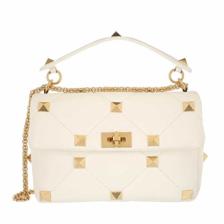 bags, Valentino Garavani, Shoulder Bag Leather White