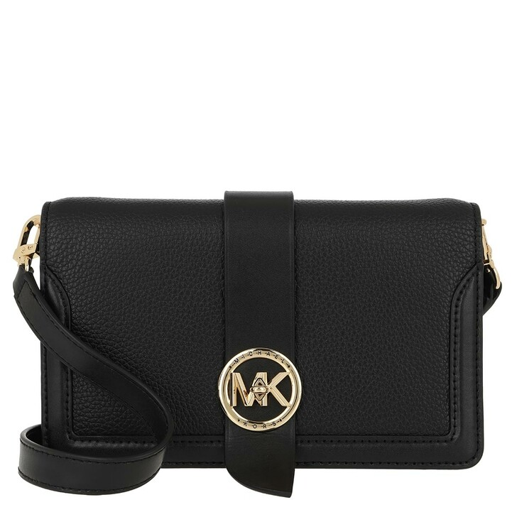 bags, MICHAEL Michael Kors, Charm MD Triple Gsst Crossbody Bag Black