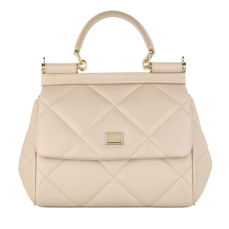bags, Dolce&Gabbana, Sicily Small Handle Bag Beige