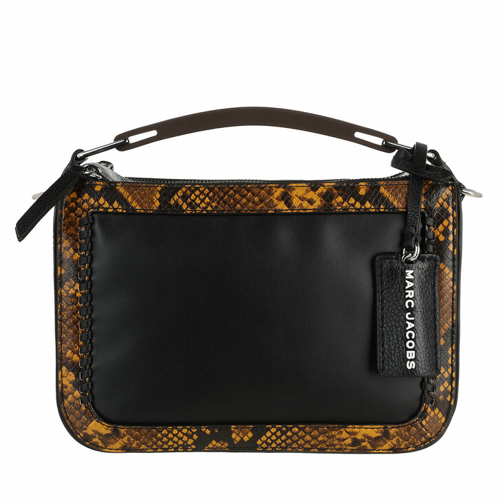 bags, Marc Jacobs, The Soft Box Crossbody Bag Snake Embossed Brown Multi