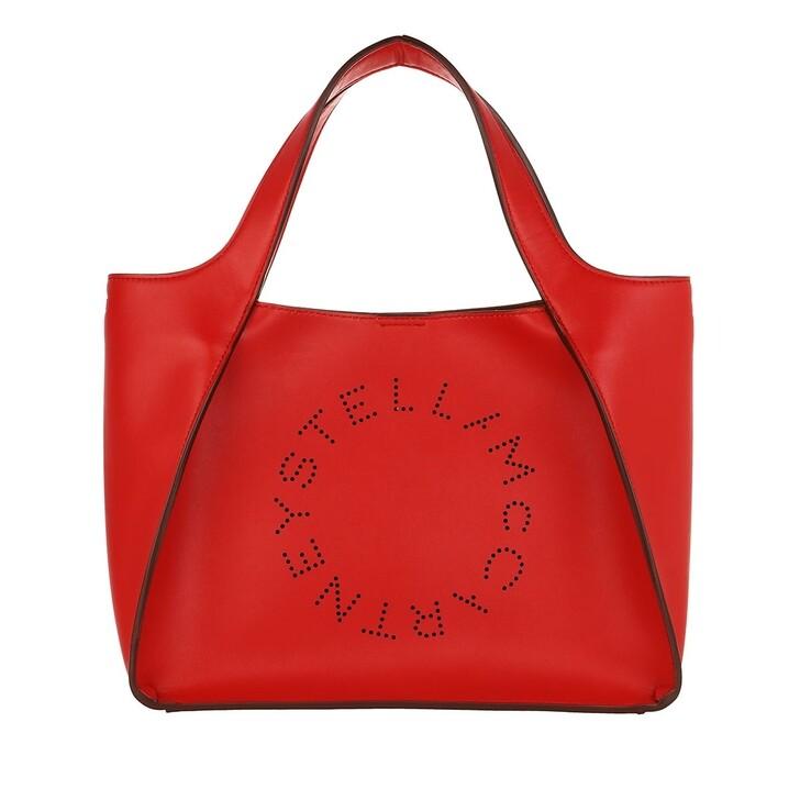 Handtasche, Stella McCartney, Logo Crossbody Bag Eco Soft Red Amore