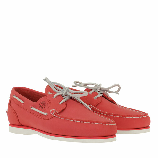 timberland -  Loafers & Ballerinas - Classic Boat Amherst 2 Eye Boat Shoe - in rot - für Damen