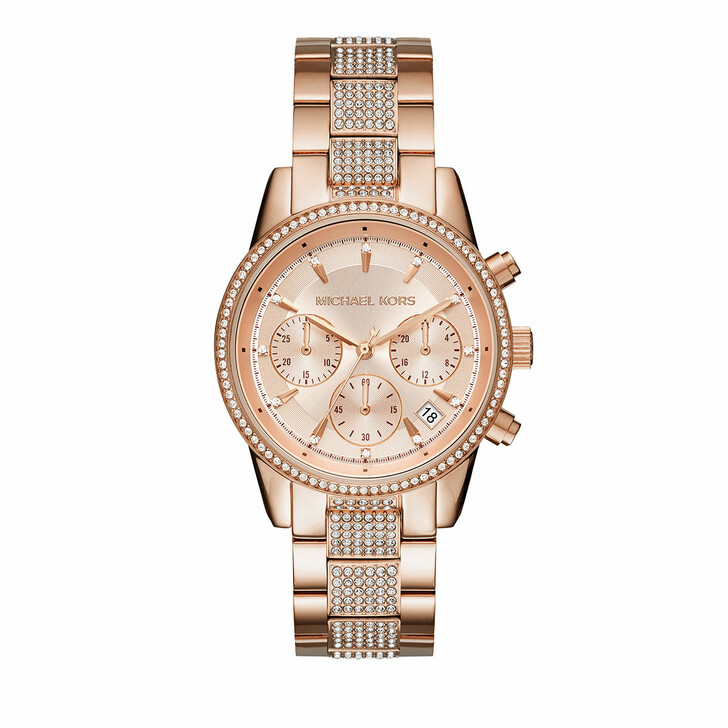 watches, Michael Kors, Ritz Chronograph Stainless Steel Watch Rose gold