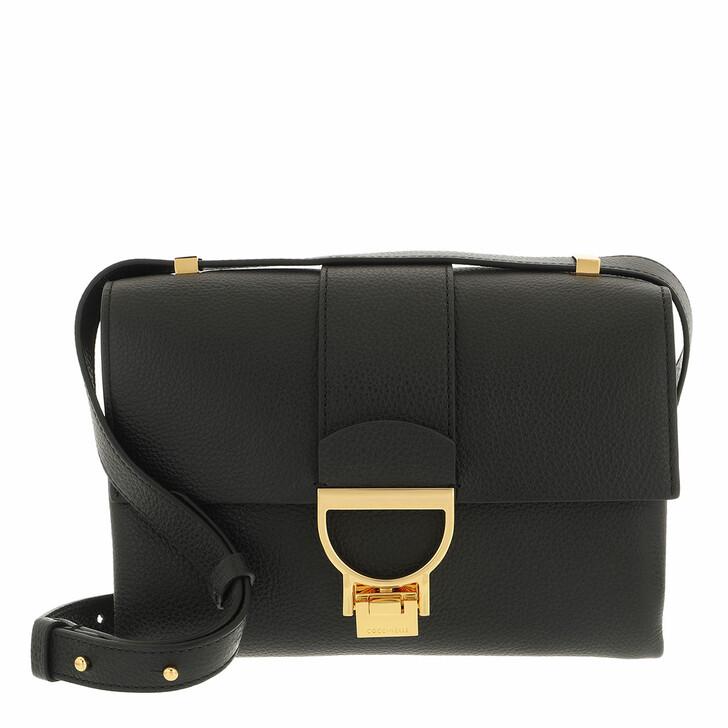 bags, Coccinelle, Handbag Grainy Leather  Noir