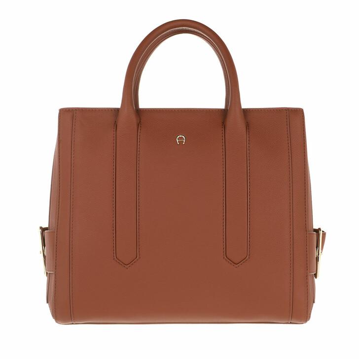Handtasche, AIGNER, Handle Bag Cognac