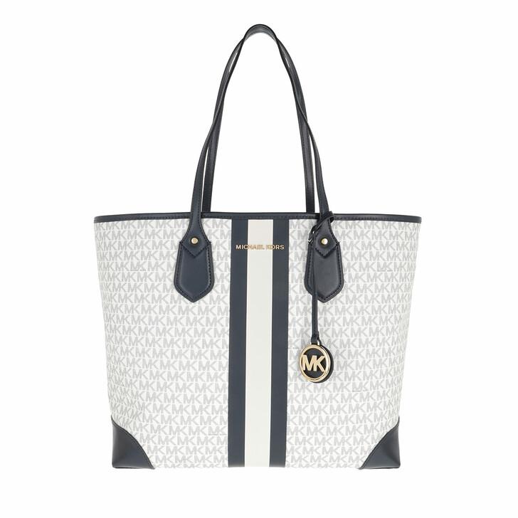 bags, MICHAEL Michael Kors, Large Tote White/Navy