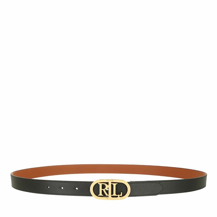 belts, Ralph Lauren, Oval Rev 25 Belt Skinny Black/Lauren Tan