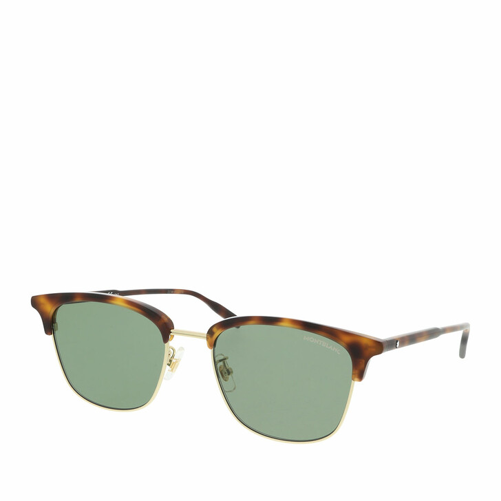 Sonnenbrille, Montblanc, MB0136SK-003 54 Sunglass MAN METAL Havana