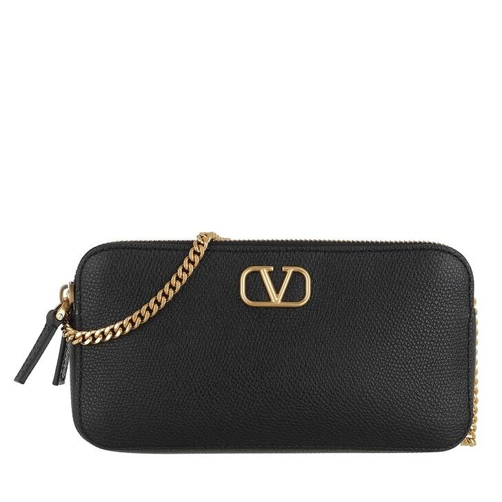 Handtasche, Valentino Garavani, VSLING Pouch Leather Black