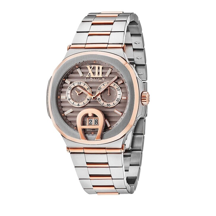 Uhr, AIGNER, TAVIANO Watch Silver/Rose Gold