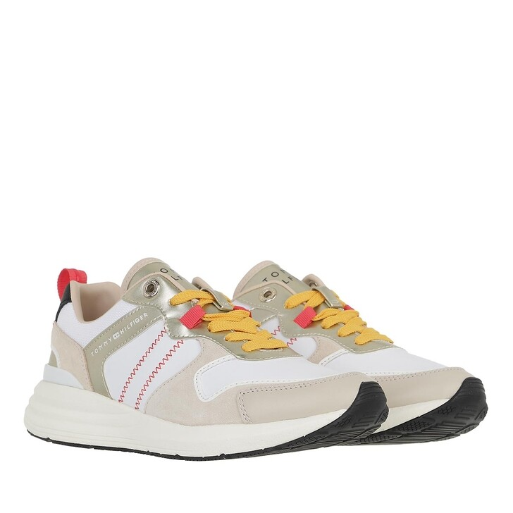 shoes, Tommy Hilfiger, Metallic Casual Retro Runner Classic Beige
