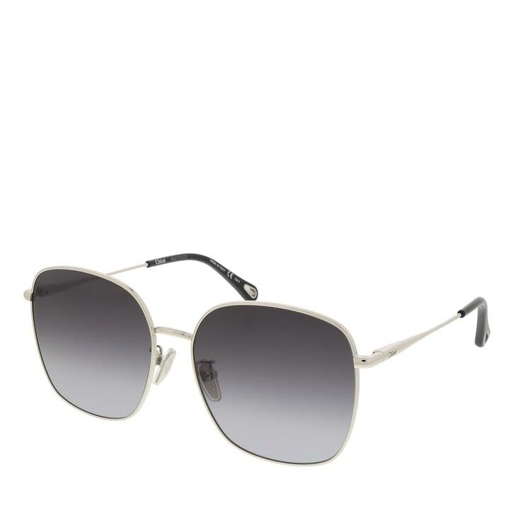 sunglasses, Chloé, CH0076SK-003 58 Sunglass Woman Metal Silver-Silver-Grey