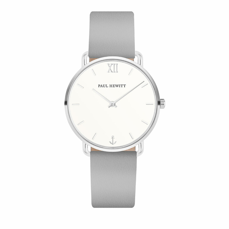 watches, PAUL HEWITT, Watch Miss Ocean White Sand Leather Strap  Grey