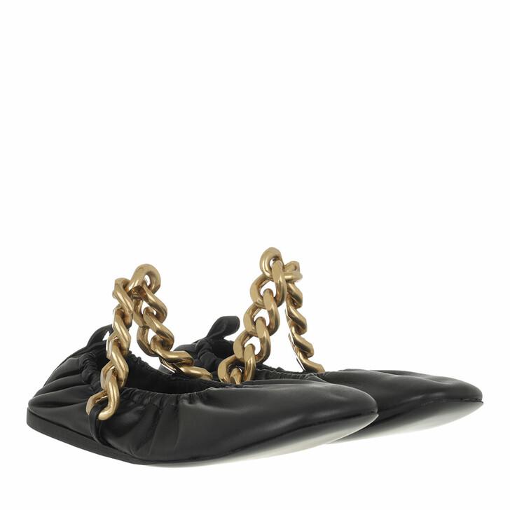 shoes, Stella McCartney, Falabella Chunky Chain Ballet Flats Black