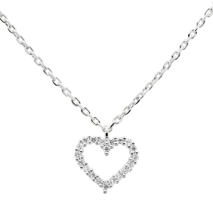 Kette, PDPAOLA, Necklace Heart White/Silver