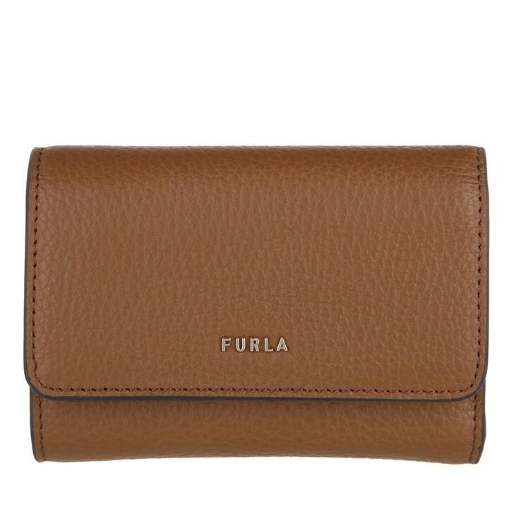 wallets, Furla, Furla Babylon S Compact Wallet Cognac H