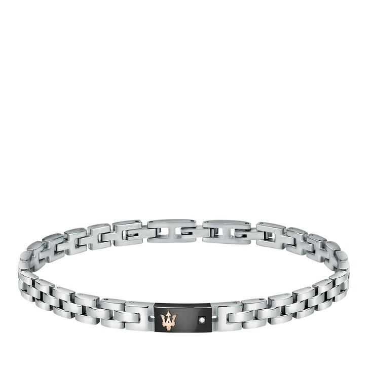 bracelets, Maserati, JM221ATY05 Bracelet Natural Diamond Silver/Black