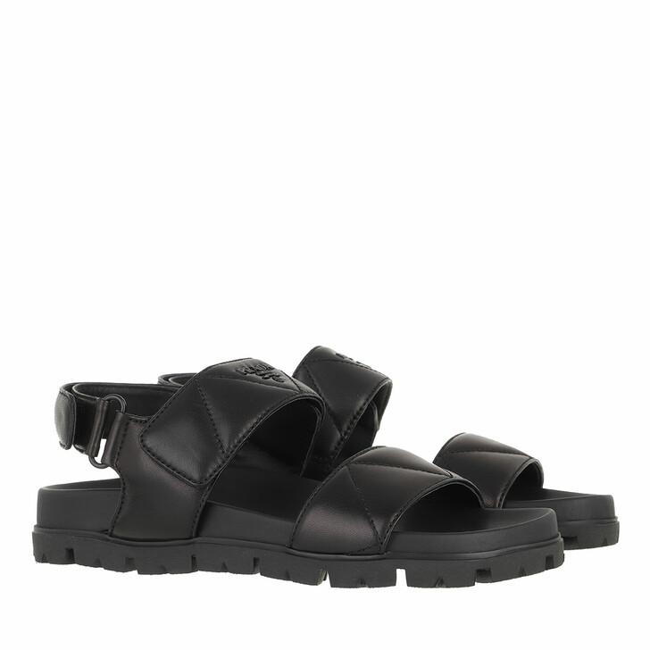 shoes, Prada, Sandals Black