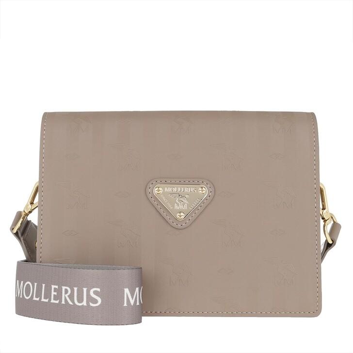 bags, Maison Mollerus, Melide Crossbody Bag Taupe/Nastro/Gold