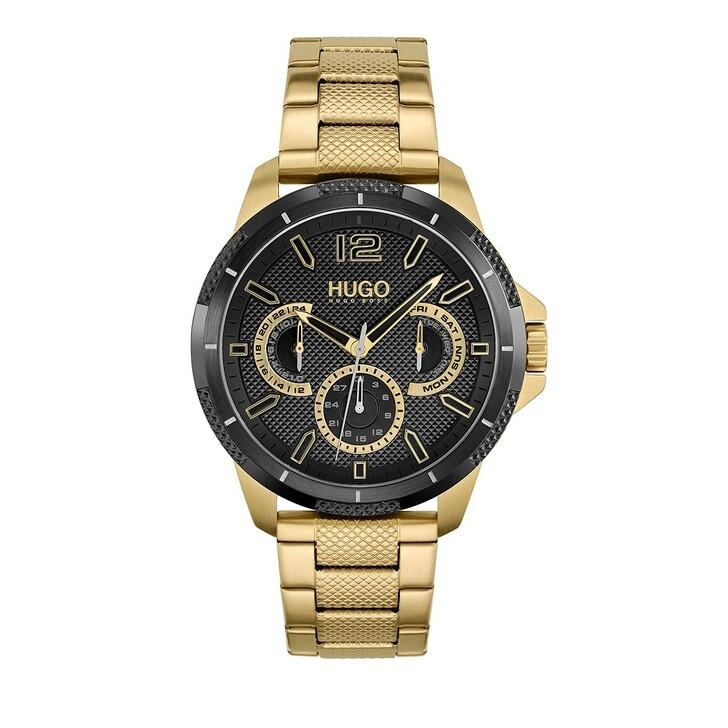 Uhr, Hugo, Multifunctional Watch Gold