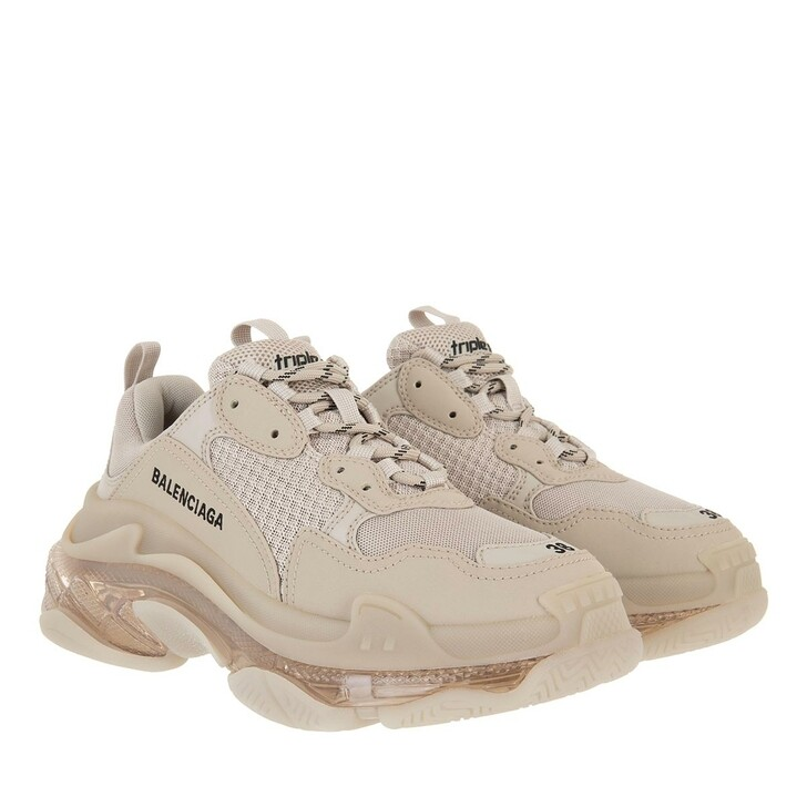 Schuh, Balenciaga, Triple S Clear Sole Sneakers Beige