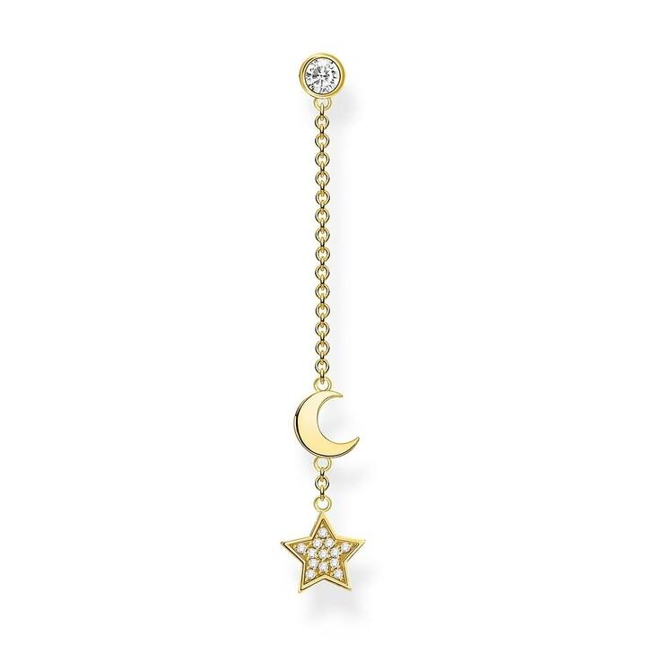 Ohrring, Thomas Sabo, Single Earring Star & Moon Pearl White