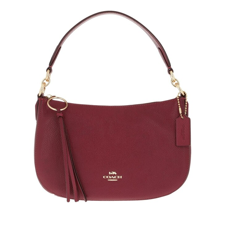 bags, Coach, Pebble Leather Sutton Crossbody Bag Deep Red