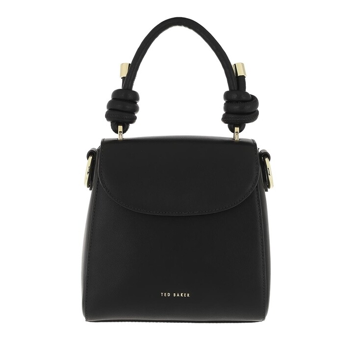 bags, Ted Baker, Dillie Knotted Leather Top Handle Black