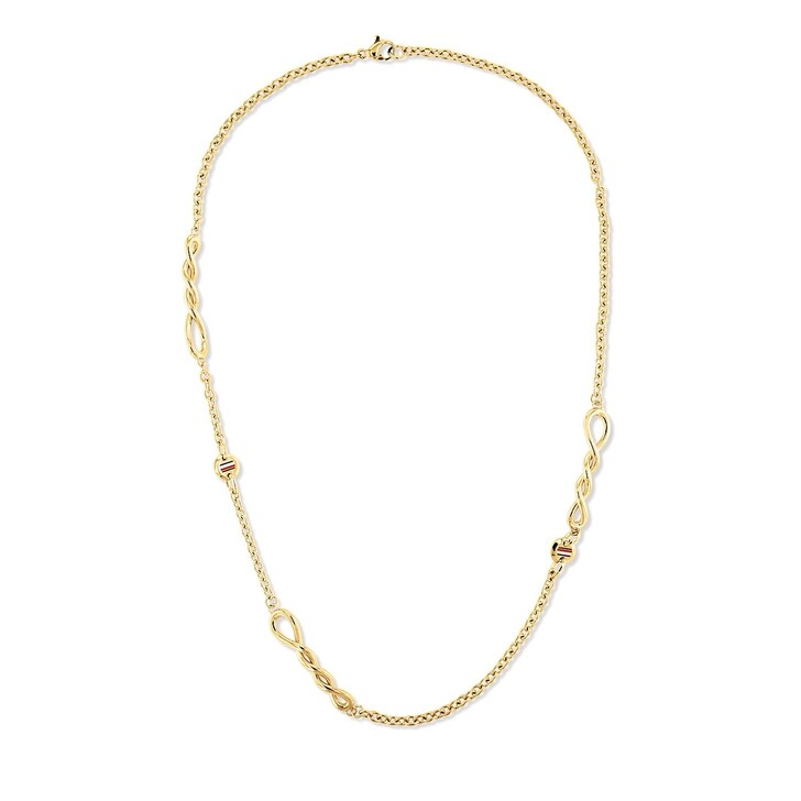 Kette, Tommy Hilfiger, Twisted Necklace Yellow Gold