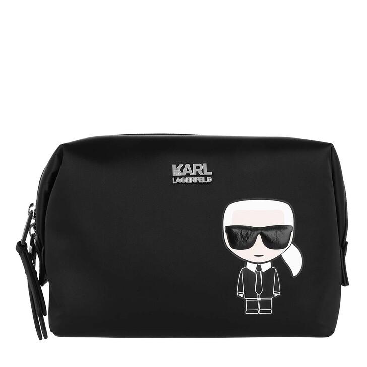 Handtasche, Karl Lagerfeld, K/Ikonik Washbag Karl  Black
